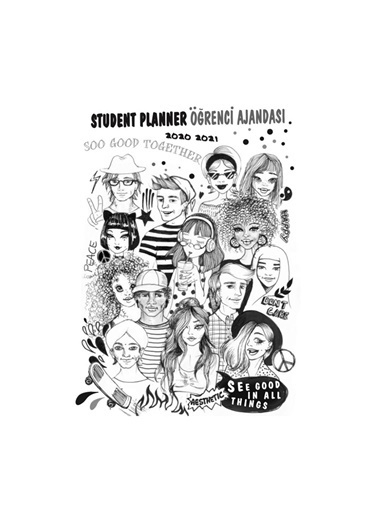Akademi Çocuk Öğrenci Ajandası 2020-2021 World People Renkli